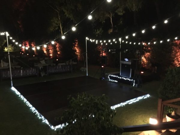 dance floor hire with lights
