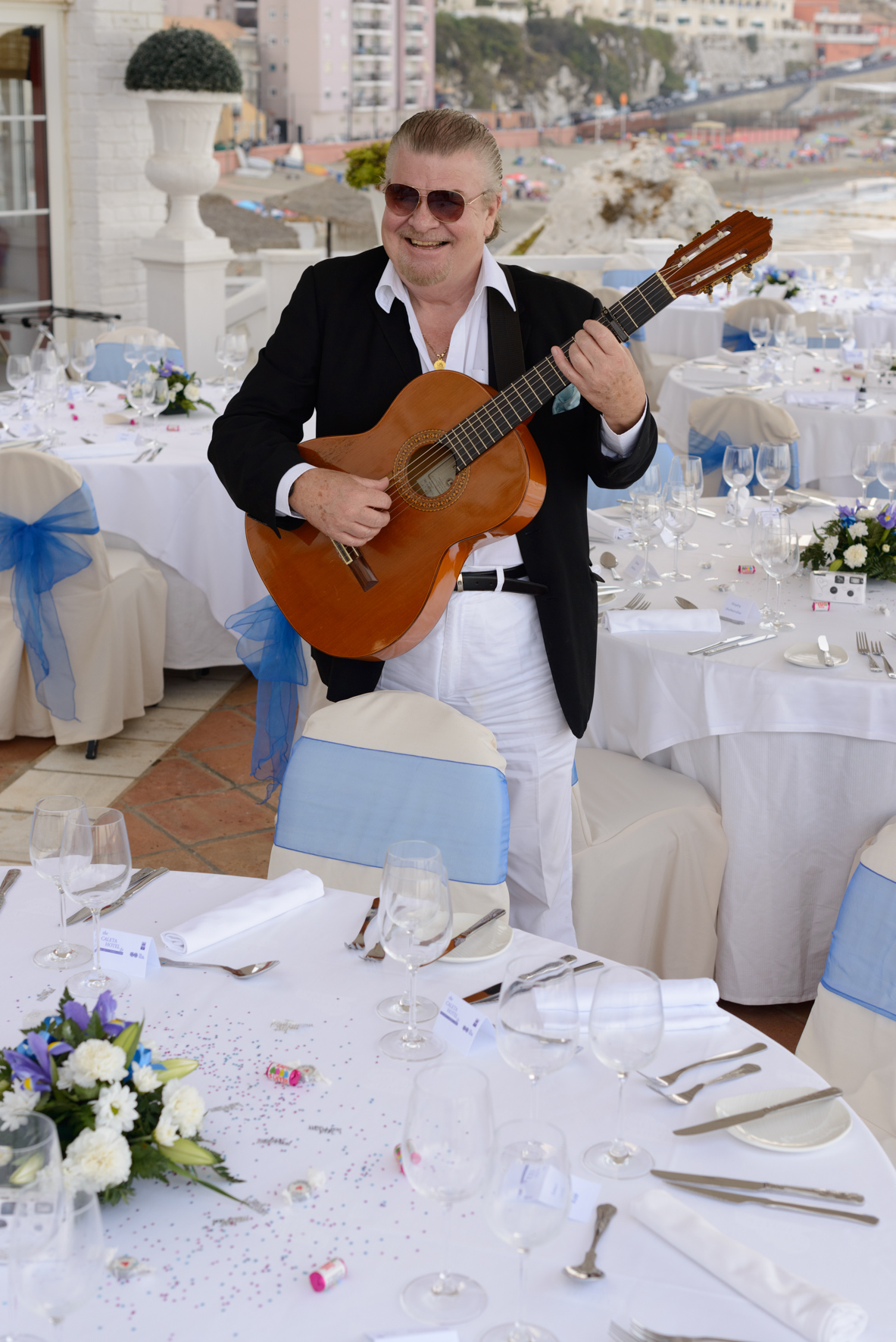 Spanish guitar player Costa del Sol