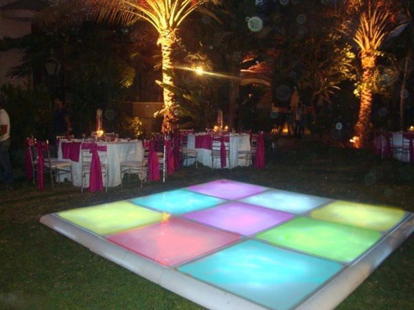 hire led dance floor Spain