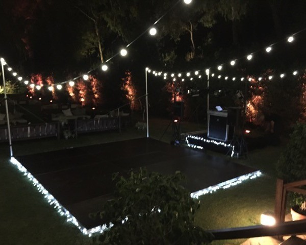 dance floor hire with lights