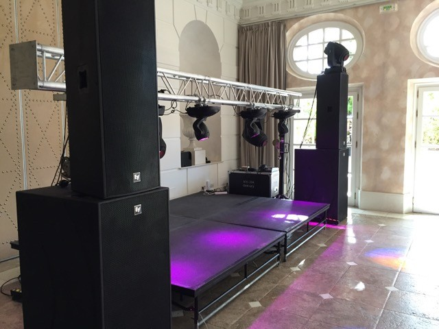 Concert sound & Light hire Villa Padierna Ballroom