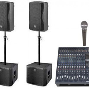 small sub bass speaker pa system for hire