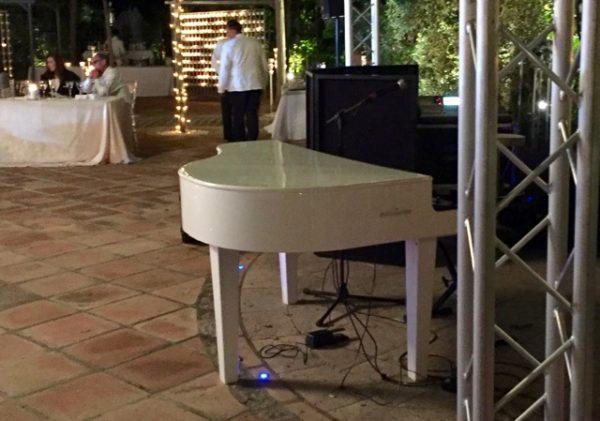 Dummy Mini Grand Piano in white for hire