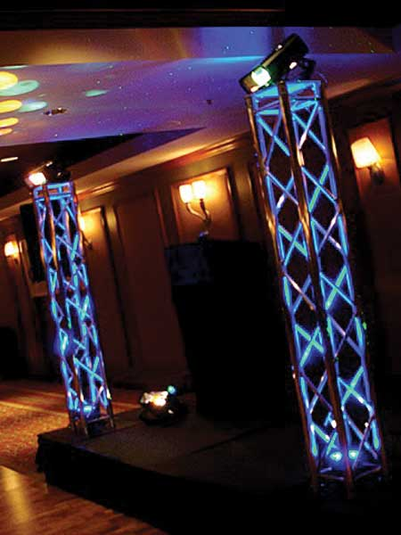 Truss lighting totem hire