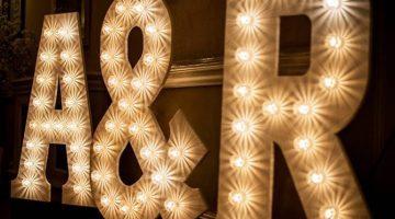 custom name in lights marbella