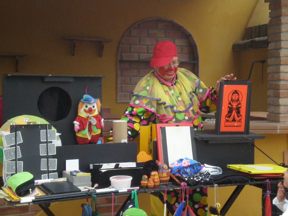 Pom Pom Clown Party Tricks Display